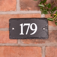 House numbers in rustic slate with 3 digits (WRSN3)