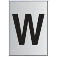 Metal Effect PVC Letter W