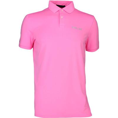 RLX Golf Shirt - Solid Airflow - Blaze Neon Pink SS17