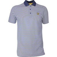 Lyle & Scott Golf Shirt - Craigielaw Tech Tour - Navy SS17