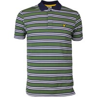 Lyle & Scott Golf Shirt - Dunbar Stripe - Cedar Green SS17