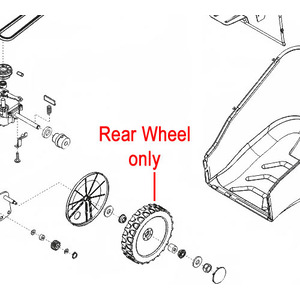 Al Ko Lawnmower Rear Wheel 441256