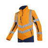 Click to view product details and reviews for Senic 711 High Vis Orange Navy Fleece Jacket.