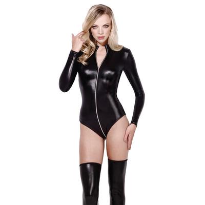 Felicity Wetlook Bodysuit Black