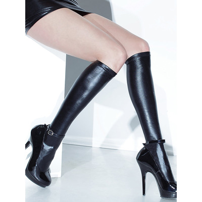Wet Look Stay-Up Stockings