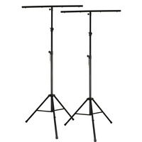 Pair of Cobra Heavy Duty Lighting Stands Complete with T Bars 3.2M