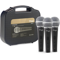 Stagg 3 Piece Microphone Pack Inc. Cables