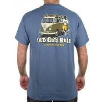 Old Guys Rule Tee - Stand by Your Van - Blue, L