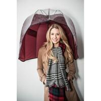Rainshader Red Tartan Windproof Umbrella