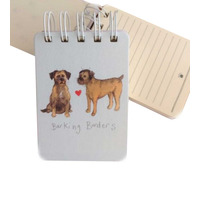 Alex Clarks Barking Borders Small Spiral Notepad