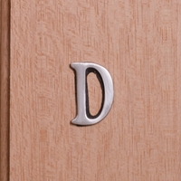 Self Adhesive 40mm Aluminium Letter D