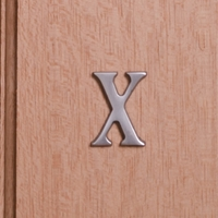 Self Adhesive 40mm Aluminium Letter X