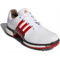 Adidas Golf Shoes - Tour360 Boost 2.0 - White - Scarlet 2018