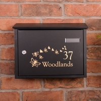Save The Bees Taylor Black Letterbox personalised with your address