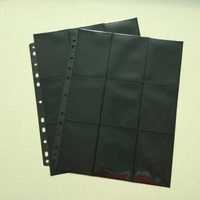 18-pocket Ring-binder page - Black (1pc)