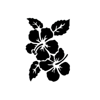 13 x 13cm Reusable Stencil - Hibiscus (1pc)