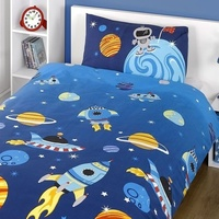 Space Rocket Single Bedding