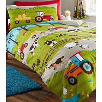Farmyard Animal Bedding. Single Duvet