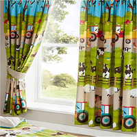 Farmyard Animal, Kids Curtains 54s