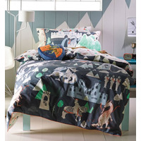 Knights, Dragons and Castle Toddler Bedding - Hiccups, 100% Cotton