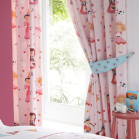 Dressing Up, Girls Pink Bedroom Curtains 72s