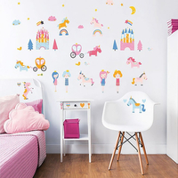 Unicorn Kingdom Wall Stickers - Pack of 48