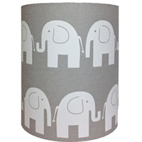 Grey Elephant, Medium Fabric Light Shade