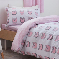 Bianca Owl Print, 100% Single Cotton Duvet Set