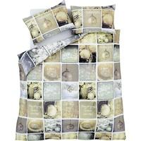 Catherine Lansfield Christmas Greetings Single Duvet Set