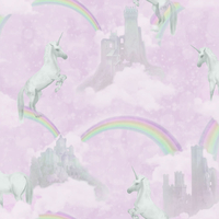 I Believe in Unicorns Wallpaper - Pink