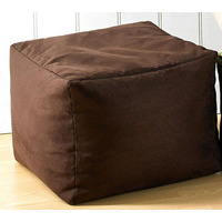 Faux Suede Bean Cube - Chocolate