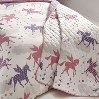 Unicorns and Stars Quilted Throw