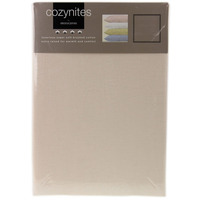 Cream Single Sheet and Pillowcase Set - 100% Brushed Cotton