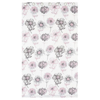Banbury, Pink Floral Eyelet Curtains 72s