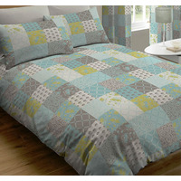 Jessica, Teal Patchwork King Size Bedding