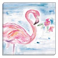 Watercolour Flamingo Canvas Art 40 x 40 cm