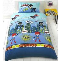 Superhero, Kids Double Duvet Cover