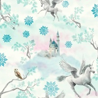 Fairytale Unicorn Wallpaper - Blue