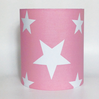 White Star, Pink Medium Fabric Light Shade