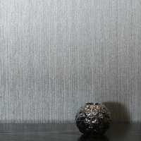Gianni, Foil Wallpaper - Plain Silver