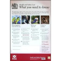 ASEC HSE01 Health & Safety Poster 800mm x 600mm PVC Sign - Single Poster