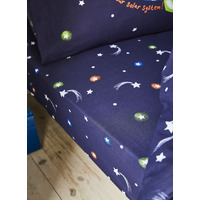 Catherine Lansfield Happy Space Easy Care Single Fitted Sheet Navy