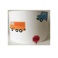 Transport, Cars and Trucks Large Fabric Light Shade