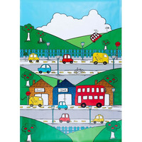 Catherine Lansfield Transport Wall Mural - 158 x 232 cm