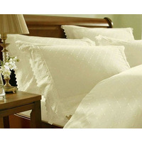 Balmoral, Cream Broderie Anglaise Pair Of Pillowcases