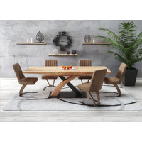 Saul Extending Golden Oak Dining Table 160-220cm