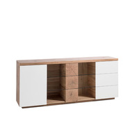 Helena 180cm Oak And White Sideboard