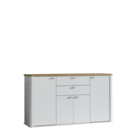 Kyron 160cm White And Artisan Oak 4 Door Sideboard
