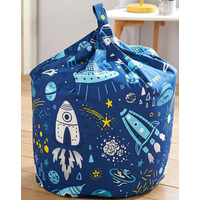 Space Rocket, Boys Bean Bag - Blue