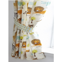 Safari Animals Curtains 72s